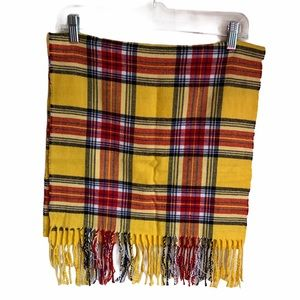 Land's End Yellow plaid scarf